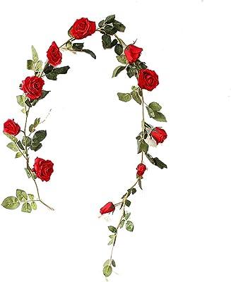 Artificial Decorations Festive & Party Supplies 95cm Long Artificial Silk Rose Flower Vine Fake Garden Hanging Flower Plant Rattan Home Decor Garland Wedding Decoration Elegant Shape