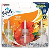Glade PlugIns Refills Air Freshener, Scented and Essential Oils for Home and Bathroom, Hawaiian Breeze, 2.01 Fl Oz, 3 Count