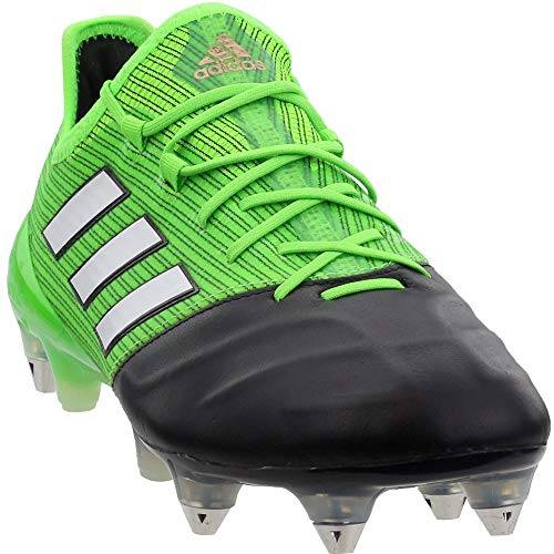 adidas Mens Ace 17.1 Leather Soft Ground Soccer Casual Cleats, Green, 8.5