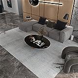 Kunsen Alfombra Salón Diseño de patrón de celosía Coloreado de café Ligero alfombras Salon Baratas Alfombra 160X200cm