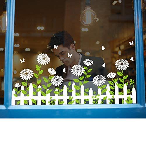 Cooldeer plint bloem tent deur glas venster plaat decoratie cafe muur schild