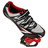 Venzo Road Bike Compatible with Shimano SPD SL Look Cycling Bicycle Shoes & Pedals 40