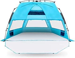Cocorika X-Large Easy Setup Beach Tent - Automatic Pop up 4 Person Instant Sun Shelter, Portable Sunshade
