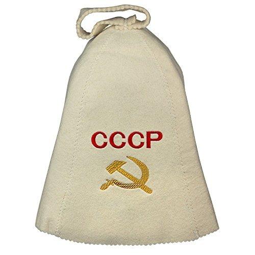Saunahut UDSSR Filzkappe Saunamütze für Sauna/CCCP