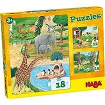 HABA-4960-Puzzles-Animales-Puzle-Infantil-Multicolor-4960