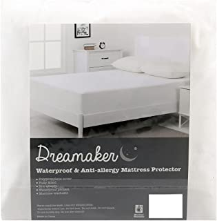 Dreamaker Non-Woven Stain Resistant Mattress Protector   Moisture Absorbent, Breathable, Control Temperature, Fully Fitte...