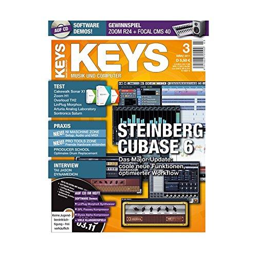 Keys 3 2011 mit CD - Steinberg Cubase 6 - Personal Samples - Free Loops - Audiobeispiele
