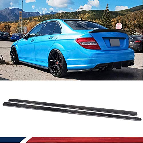 NB-LY passend für Mercedes Benz W204 C204 C63 AMG 4D 2008-2015 Carbon Seitenschweller CF Rocker Panels Extension Lip Spoiler