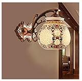 AMZH Chinese Ceramic Modern Sconce Luces de Pared 110V ~ 220v Led Luces de la Sala de Estar Iluminación Interior contemporánea Vintage Wall Lamp