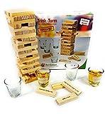 Bambelaa! Trinkspiel Partyspiel Wackelturm Drunken Tower inklusive vier Trinkgläser ca. 4cl -...