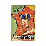 1925 Tour de France Meteore Vintage Reise Kunst Poster