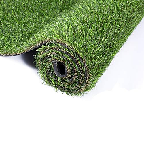 """GOLDEN MOON Artificial Grass for Dogs 1"""" 3ft x 5ft Pet Grass Puppy Potty Training Grass Pee Pad Fake Grass Mat for Garden Play Yard Autumn Grass Series"""