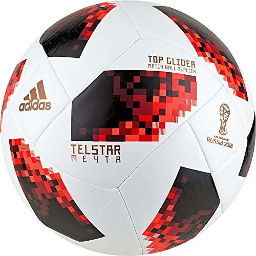 adidas W Cup Ko Tglid, Pallone Unisex Adulto, Bianco/Solred/Nero, 5