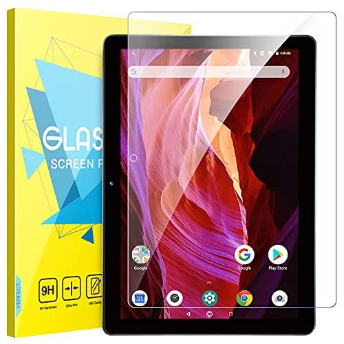 MoKo Protector de Pantalla Compatible con Dragon Touch K10 / Notepad K10 10-Inch Tablet, Premium HD Claro 9H Dureza Cristal Templado Película Compatible con K10 / Notepad K10 Tablet, Cristal Claro