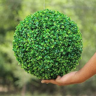NUTY DESTY 3 Topiary Balls - 1pc (4 Size) Large Green Artificial Plant Ball Topiary Tree Boxwood Wedding Party Home Outdoor Decor Plants Plastic Grass Ball