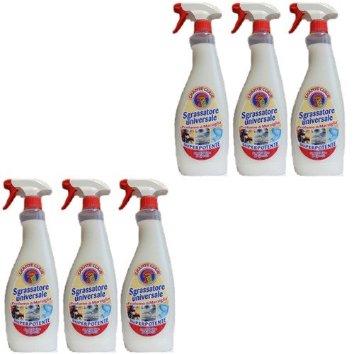 6x Chante Clair 'Sgrassatore universale' Superpotente, 750ml