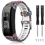 TOPsic Garmin Vivosmart HR Bracelet, Accessoires Réglable Silicone Souple Bracelet de Montre de...