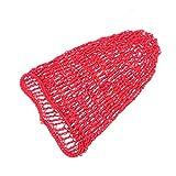 Beaupretty Banda elástica ancha para el cabello Redecilla Snood Cover Sombrero de gorra neta de red de rayón para dormir Redecilla de ganchillo (Rojo)