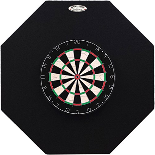 Dart-Stop 36 inch Black Octagon Pro Dart Board Back Board | Wall Protector | Dartboard Surround