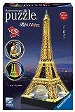 Ravensburger 12579 - Eiffelturm bei Nacht - 3D-Puzzle-Bauwerk Night Edition,