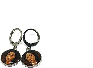 Orecchini Modigliani - Orecchini a cerchio - Orecchini anallergici - Orecchini donna pendenti