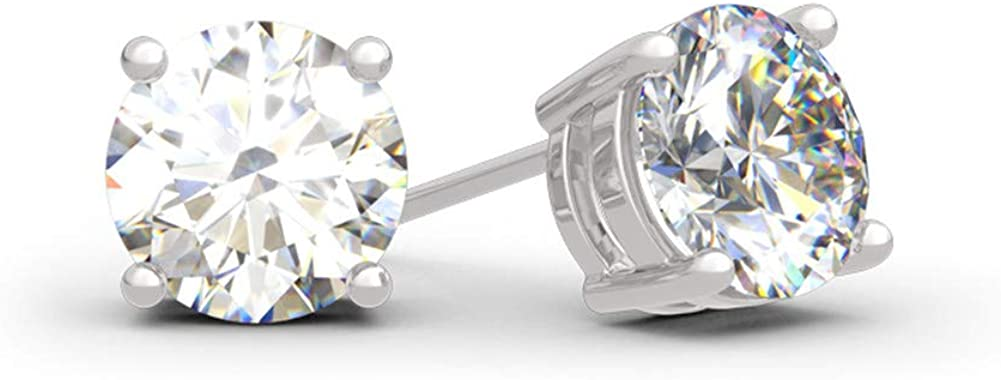 It is very popular Jeulia Classic Round Cut Now free shipping Sterling Silver Earrings Cle Stud