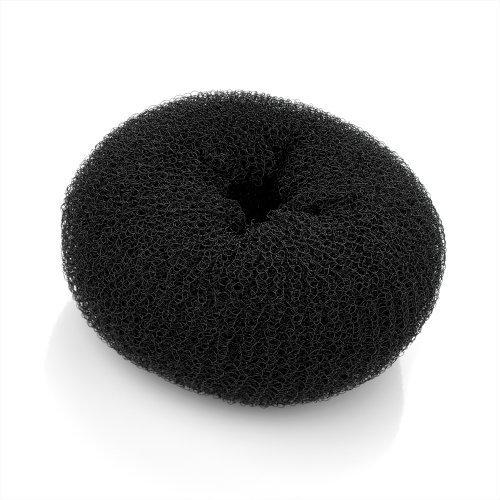 9cm Medium BLACK Bun Ring Shaper Hair Former Doughnut Donut by Amber Jewellery