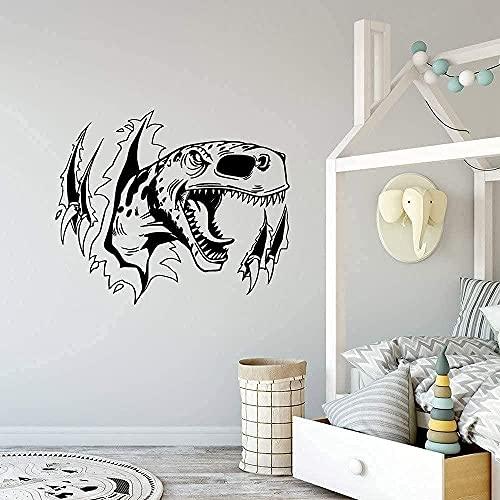 wwccy pegatina estilo de dibujos animados dinosaurio desmontable arte vinilo etiqueta de la pared decoración de la habitación de los niños mural personalizado 57X80Cm