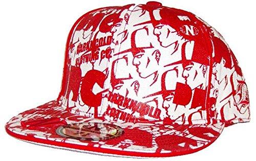 Dark N' Cold All Over Print Baseball Cap White Red