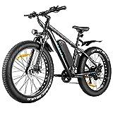 "VIVI E-Bike Elektrofahrrad Herren Damen, 26"" Fat Tire Bike, 48V 500W Ebike Mountainbike mit Abnehmbarer 48V 12,5 Ah Lithium-Ionen-Batterie, Shimano 7-Gang-Getriebe"