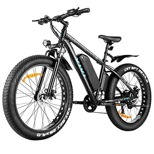 "VIVI E-Bike Elektrofahrrad Herren Damen, 26"" Fat Tire Bike, Ebike Mountainbike mit Abnehmbarer 48V 12,5 Ah Lithium-Ionen-Batterie, Shimano 7-Gang-Getriebe"