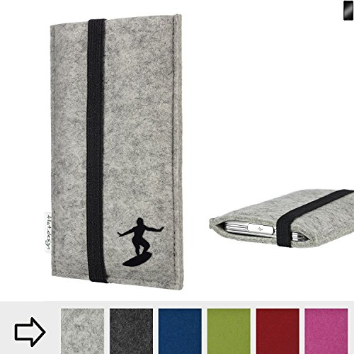 flat.design Handy Hülle Coimbra für Cyrus CS 22 individualisierbare Handytasche Filz Tasche fair Surfer Urlaub