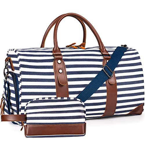 PERFECT WEEKENDER BAG - A large sized duffel bag that can fit in 2-4 days of daily essentials such as clothes, shoes, tumblers and electronic devices. The main compartment also comes with an inner zipper pocket and 2 large outer pockets to hold your ...
