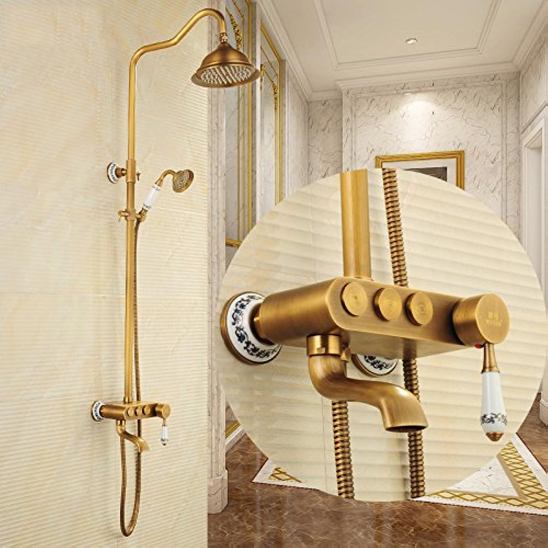 GFEI European style shower, hot and cold shower sets   bathroom, retro copper, antique shower, shower set   bath shower, shower