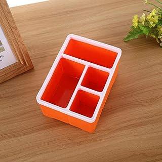 シンプルライフ、ライフアシスタント デスクトップストレージオーガナイザーリモートコントロールキャディーホールドデスクオフィス用品(コーヒー)、ボックス合計サイズ:18.2 * 13 * 9.6 cm (色 : オレンジ)