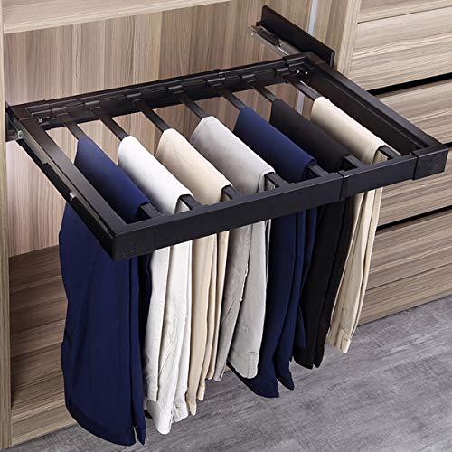 LHY-Shelf LJ Pantalones Percha Extensible, Perchas Pantalones Multiple, Ahorro de Espacio Organizador de Armario Antideslizante para Bufandas Jeans Ropa Pantalones Toallas