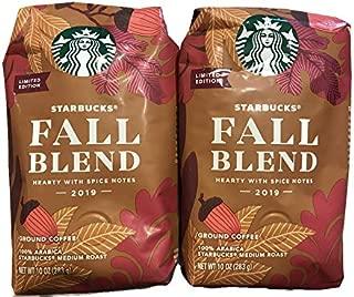 Starbucks Fall Blend, Ground, 10 ounce bag (Pack of 2)