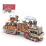 Atrumly Rompecabezas de tren de Navidad en 3D para Navidad, cumpleaños y San Valentín, regalo para niños, adultos, regalo de cumpleaños