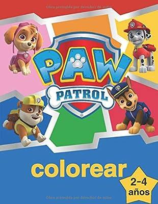 paw patrol colorear: la Patrulla Canina Libro para Colorear para niños de 2 a 4 años. de Independently published