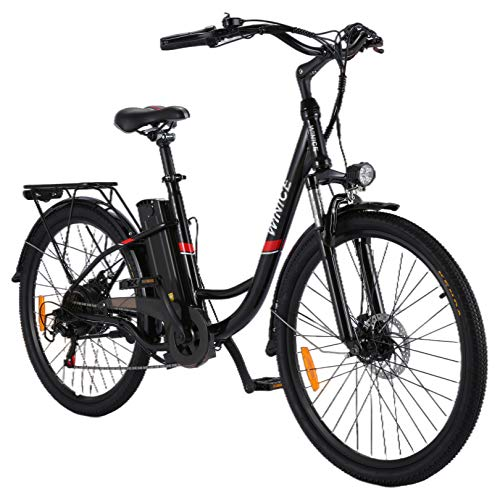 VIVI Elektrofahrrad Ebike 26 Zoll Pedelec Fahrrad für Damen Herren, 350W City Ebike mit Abnehmbarem 36V 8Ah Lithium-Ionen-Akku, Shimano 7-Gang Elektrisches Fahrrad