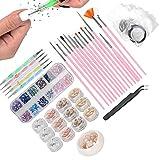 DIY Nail Art Set, decoración de uñas, kit de decoración de uñas, bolígrafo para puntear, herramienta de manicura para el hogar, salón de manicura