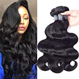Amella Hair 8A Brazilian Virgin Body Wave Hair 3 Bundles 285g 14' 16' 18' Natural Black Color 100% Unprocessed Brazilian...