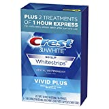 Crest 3D White Whitestrips Vivid Plus Teeth Whitening Kit, Individual...