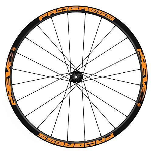 Pegatinas Llantas Bicicleta 29' WH44 Progress EVO 29 VINILOS Ruedas Naranja Fluor