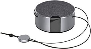 Prettyia Fashionable Bluetooth Speaker Built in Mic Handsfree Support TF Card&Line in - Silver