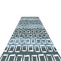 廊下敷きカーペット 滑り止めランナーラグ、 幾何学模様 長いです 廊下ホールナローランナーラグ、 60cm / 80cm / 100cm / 120cm幅 (Size : 120x300cm)
