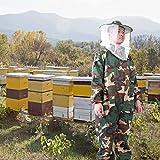 AMONIDA EL Apicultor Proporciona UNA Chaqueta de Apicultura Bien Hecha, Traje de Apicultura Suave Profesional, para apicultores comerciales Principiantes(L)