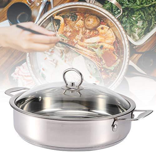 Kookpan, 28x7cm Composiet Bodem Roestvrijstalen Kooksmeulpot voor het maken van soep/stoven/smeulen, Koken Kookgerei Keukengereedschap Steelpannen Stockpotten