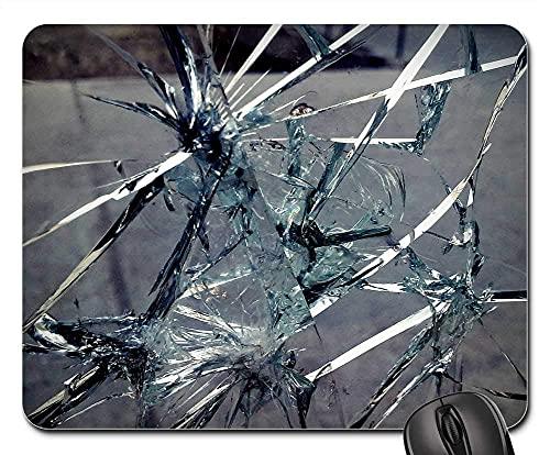 Mauspad Glas Gebrochen Bruch Risse Textur Gebrochenes Glas Gaming Mousepad Anti Rutsch Gummiunterseite Ultradünner Gaming Mausmatte Multifunktionales Mausunterlage Für Laptop/Pc,...