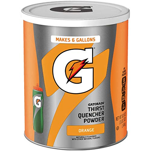 Gatorade Orange Instant 50.9 oz - 6 Gallon Mix